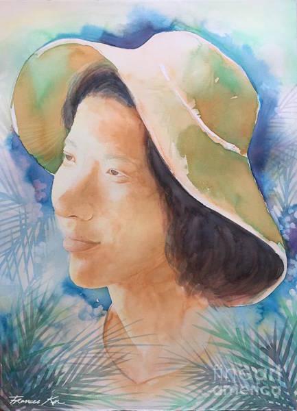 Painting - Self Portrait by Frances Ku