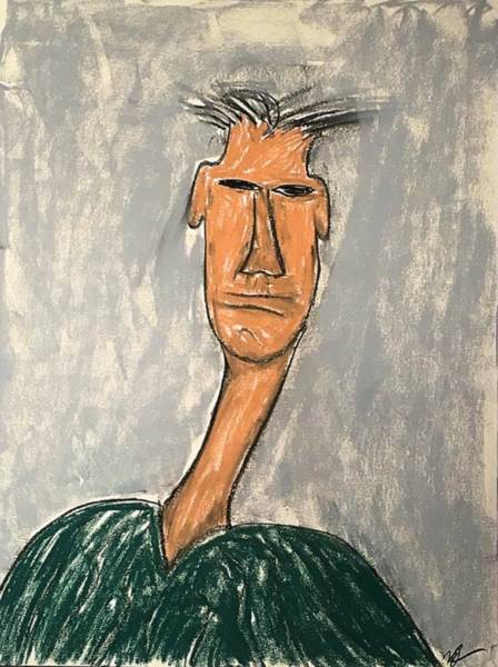 Drawing - Self-portrait, I Think by Mario MJ Perron