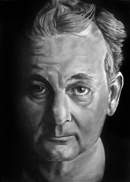 Drawing - Self Portrait - If I Looked Like Bill Murray by William Underwood