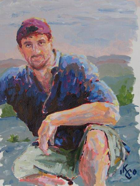 Selfportrait Painting - Self Portrait In Acrylic by KC Chapman