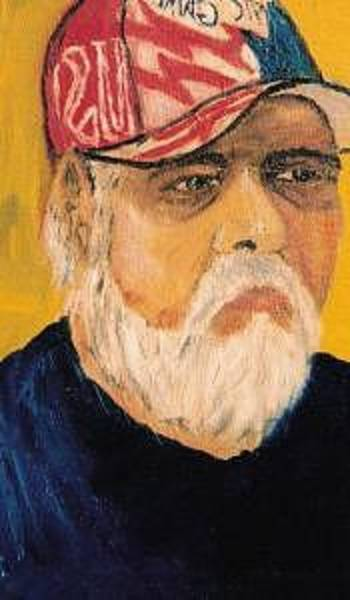 Wall Art - Painting - Self Portrait In Ball Cap by Steve  Hightower