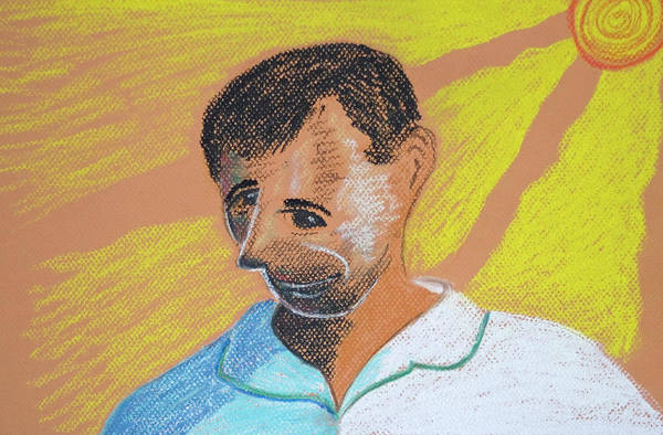 Pastel - Self Portrait by M Valeriano
