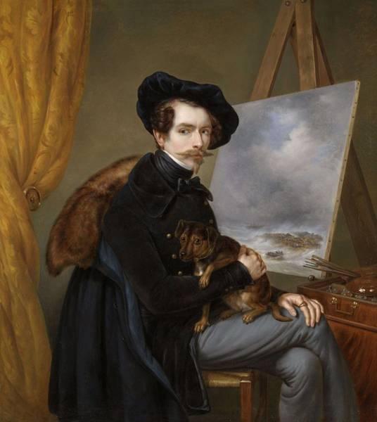 Meijer Painting - Self Portrait Louis Meijer 1838 by Louis Meijer