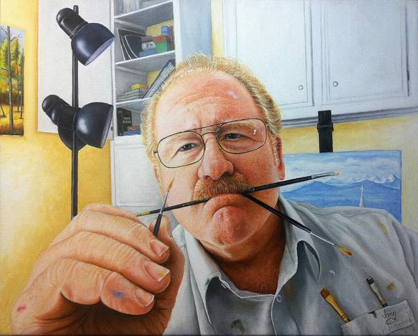 Painting - Self Portrait by Mike Ivey