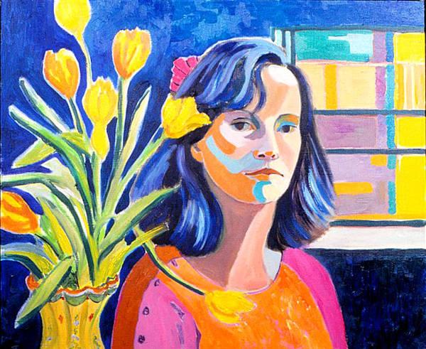 Painting - Self Portrait by Nancy Wait