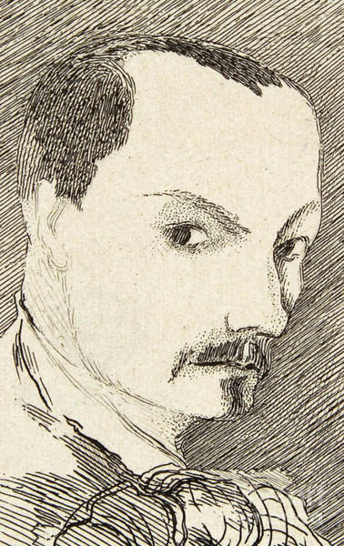 Charles Drawing - Self Portrait Of Charles Baudelaire by Charles Baudelaire