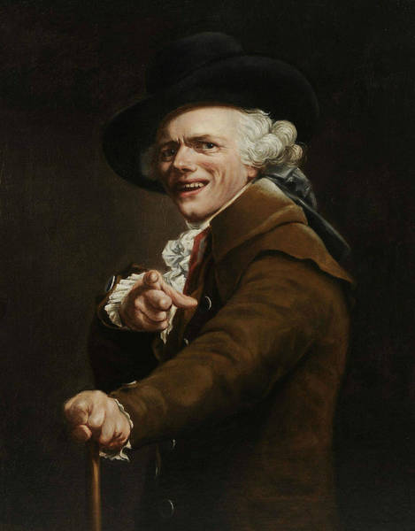 Wall Art - Painting - Self-portrait Of The Artist In The Guise Of A Mocker by Joseph Ducreux