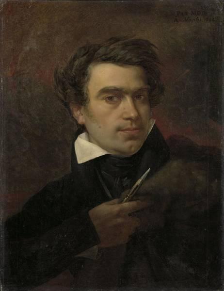 Wall Art - Painting - Self Portrait, Pierre Van Hanselaere 1824 by Celestial Images