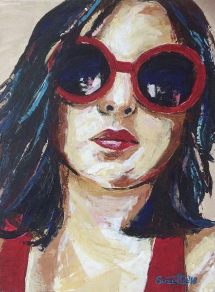 Selfportrait Painting - Self Portrait by Suzette Castro