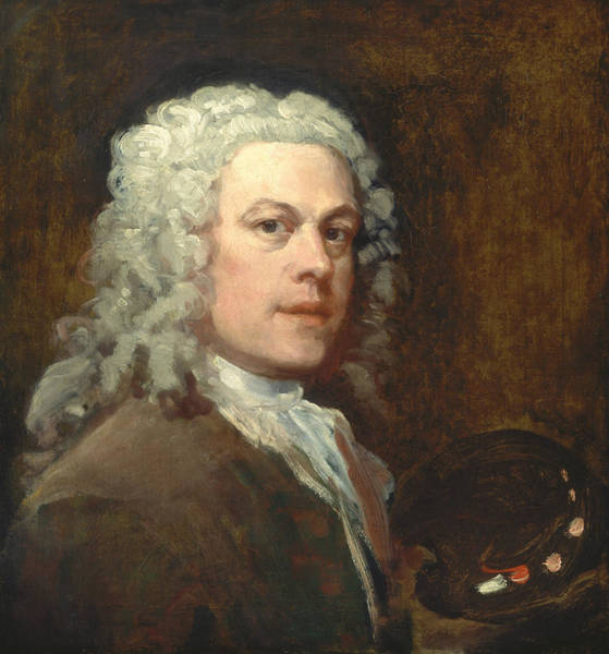 Painting - Self-portrait by William Hogarth
