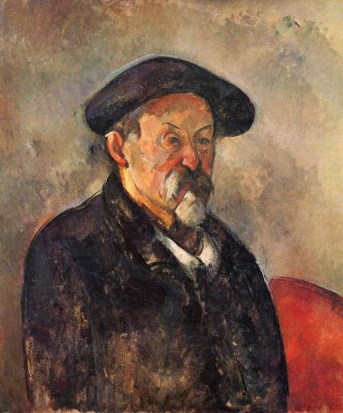 Painting - Self Portrait With Barrette by Paul Cezanne