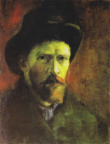 Painting - Self-portrait With Dark Felt Hat by Vincent van Gogh