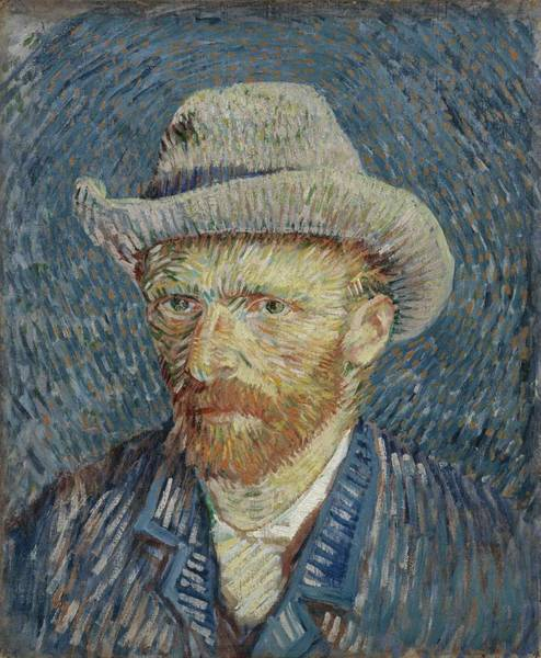 Painting - Self-portrait With Grey Felt Hat Paris, September - October 1887 Vincent Van Gogh 1853 1890 by Artistic Panda