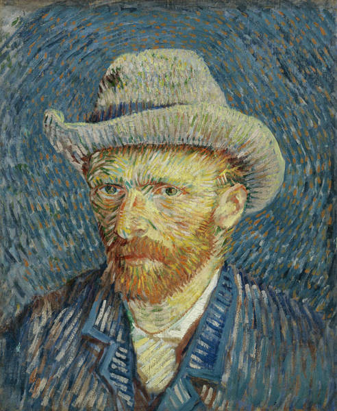 Painting - Self-portrait With Grey Felt Hat by Vincent van Gogh