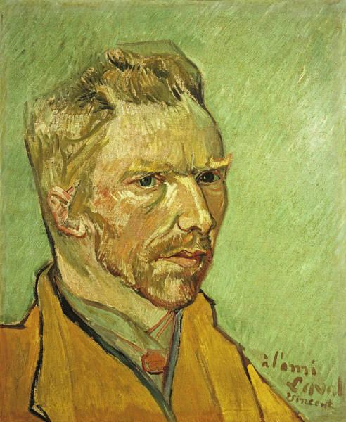 Selfportrait Painting - Self Portrait Yellow by Vincent Van Gogh