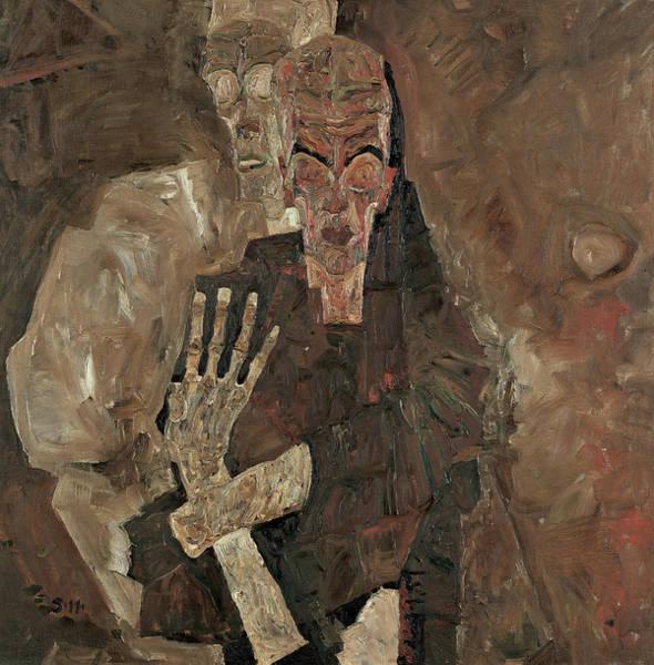 Painting - Self-seer II  by Egon Schiele