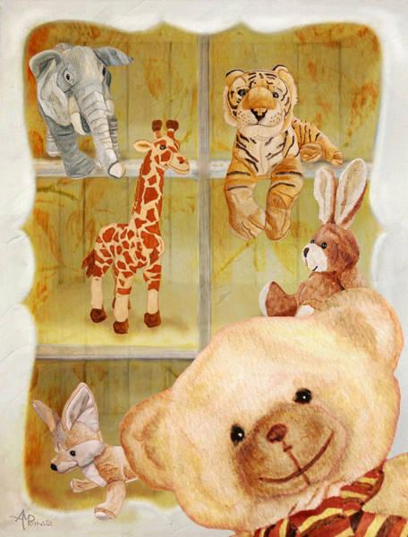 Painting - Selfie Bear by Angeles M Pomata