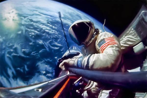 Wall Art - Digital Art - Selfie Buzz Aldrin by Peter Chilelli
