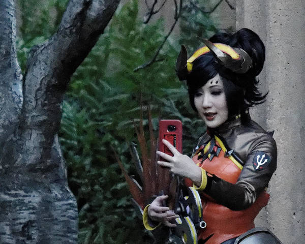Cosplay Photograph - Selfie - Cosplayer At The Palace Of Fine Arts, San Francisco, California by Darin Volpe