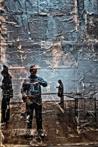 Photograph - Selfie In Black Painting by Frank Winters
