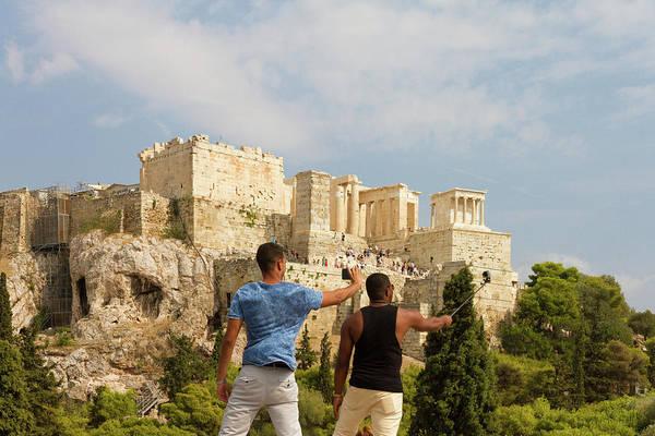 Wall Art - Photograph - Selfies Against The Acropolis by Iordanis Pallikaras