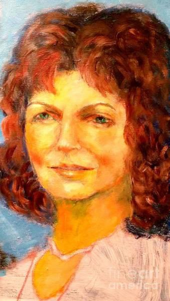 Selfportrait Painting - Selfportrait 2018 by Dagmar Helbig