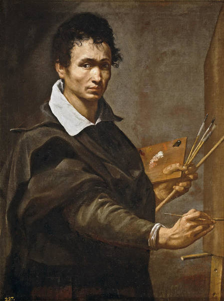 Selfportrait Painting - Selfportrait by Attributed to Orazio Borgianni