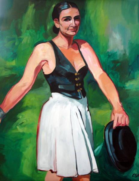 Selfportrait Painting - Selfportrait by Carmen Stanescu Kutzelnig