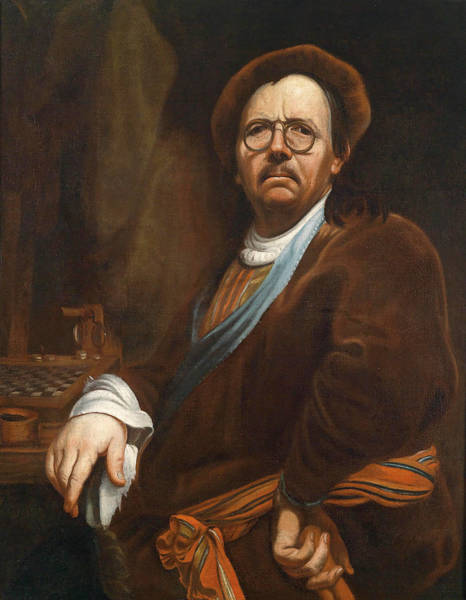 Selfportrait Painting - Selfportrait by Workshop of Jan Kupecky