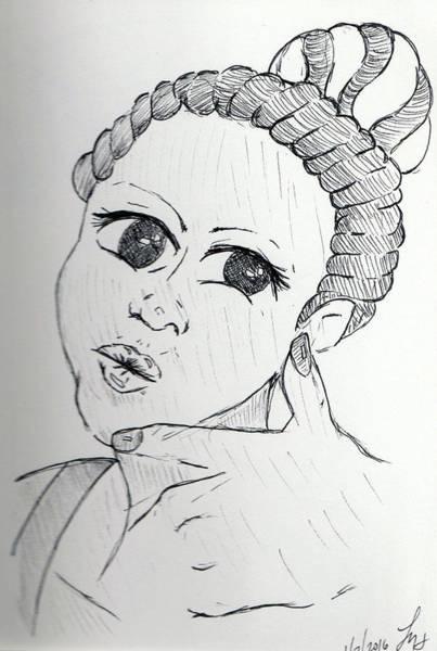 Drawing - Selfy by Loretta Nash
