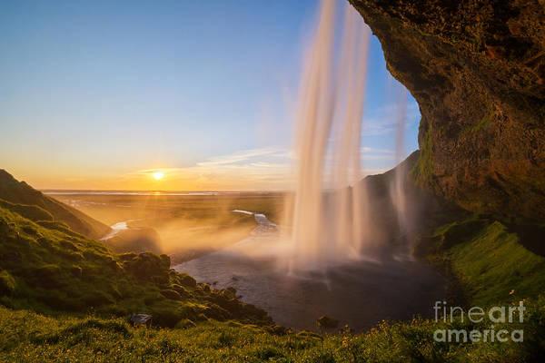 Wall Art - Photograph - Seljalandsfoss Sunset Iceland by Michael Ver Sprill