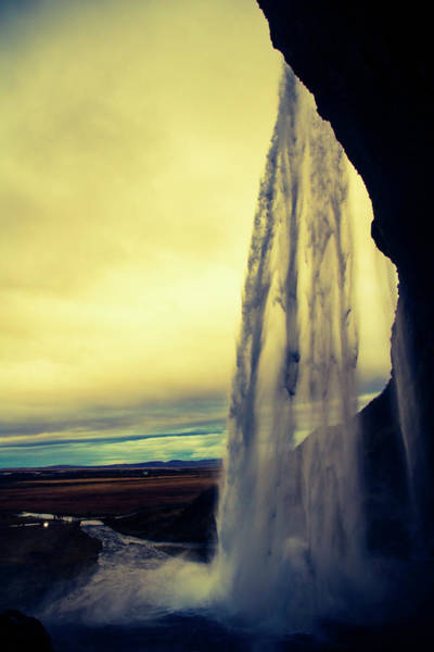 Photograph - Seljalandsfoss Sunset by Perggals - Stacey Turner