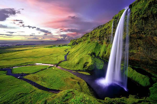 Photograph - Seljalandsfoss Waterfall by Movie Poster Prints