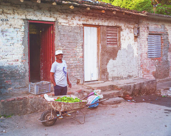 Photograph - Selling Peppers In Trinidad Cuba Matte Finish by Joan Carroll