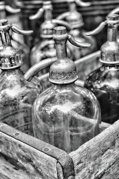 Wall Art - Photograph - Seltzer Bottles In Black And White by Paul Ward