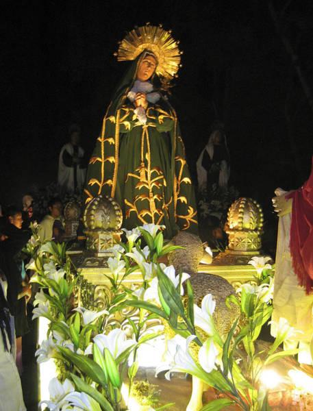 Photograph - Semana Santa Procession Night by Kurt Van Wagner
