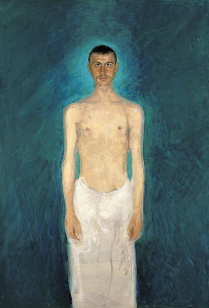 Painting - Semi-nude Self-portrait by Richard Gerstl