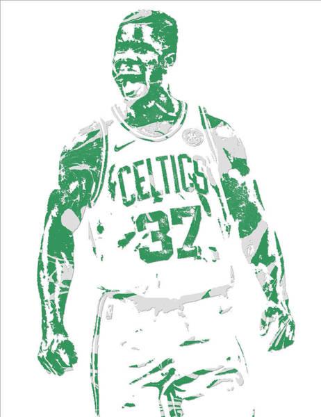 Celtic Mixed Media - Semi Ojeleye Boston Celtics Pixel Art 1 by Joe Hamilton