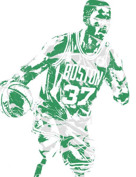 Celtic Mixed Media - Semi Ojeleye Boston Celtics Pixel Art 2 by Joe Hamilton