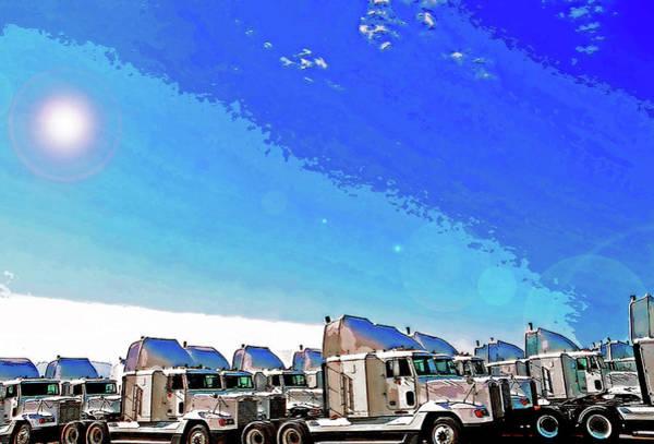 Semi Truckscape 1 Art Print