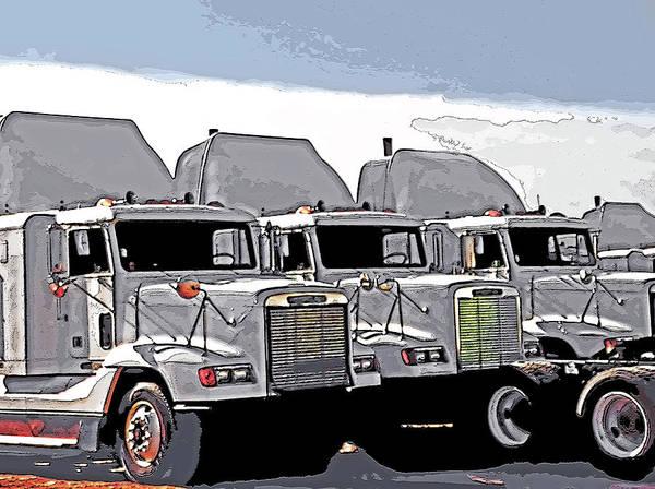 Semi Truckscape 3 Art Print