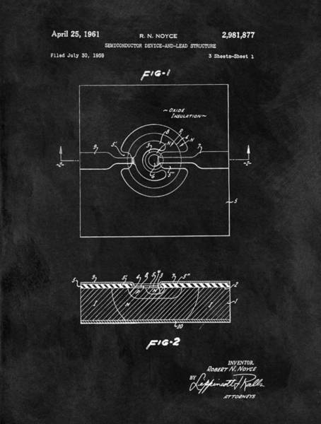Wall Art - Drawing - Semiconductor Patent by Dan Sproul