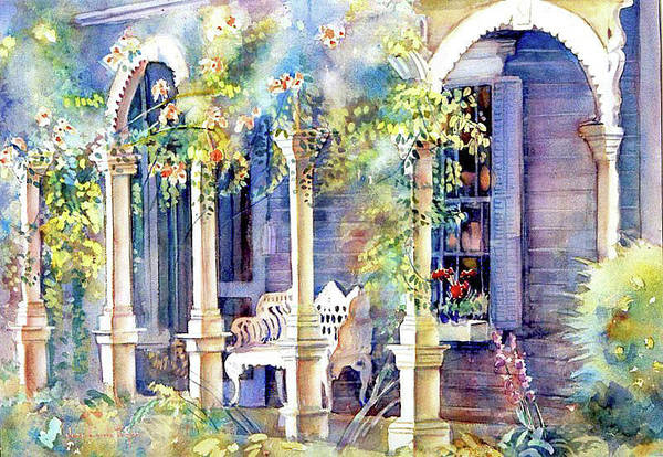 Porch Painting - Seminary Street by June Conte Pryor