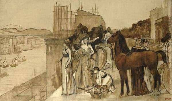 Wall Art - Painting - Semiramis Building A City by Edgar Degas