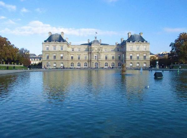 Photograph - Senat From Jardin Du Luxembourg by Christopher Kirby