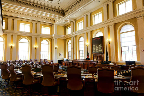 Photograph - Senate Chamber At The Maine Capitol In Augusta by Olivier Le Queinec