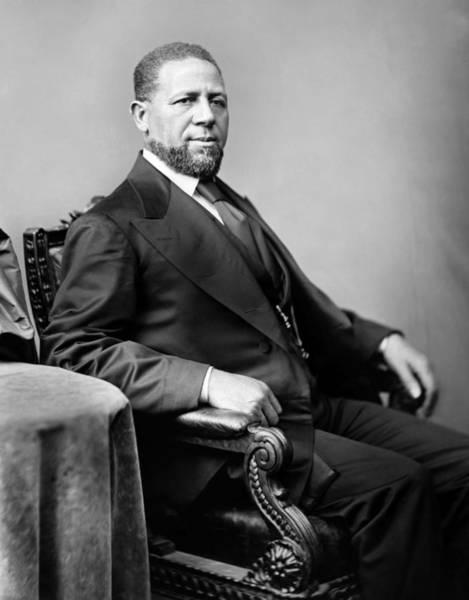 Methodist Photograph - Senator Hiram Rhodes Revels Portrait by War Is Hell Store