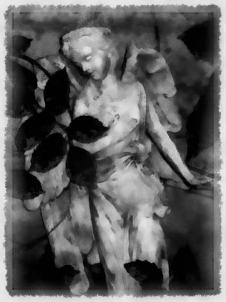 Statue Mixed Media - Send Me An Angel by Angelina Tamez