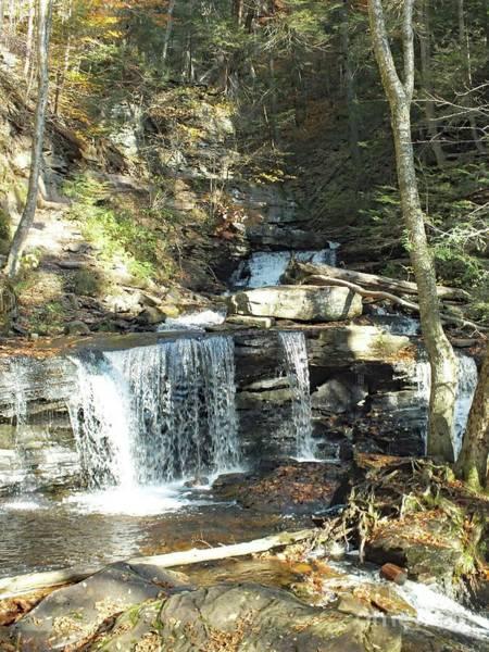 Sullivan County Photograph - Delaware And Seneca Falls 3 - Ricketts Glen by Cindy Treger