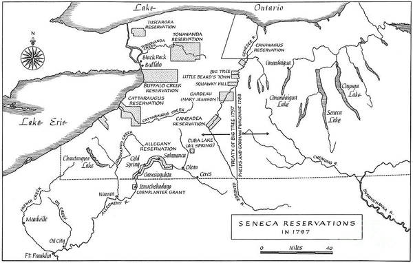 Drawing - Seneca Reservation Map, 1797 by Granger